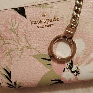 Kate Spade Pink Floral Key Ring Wallet